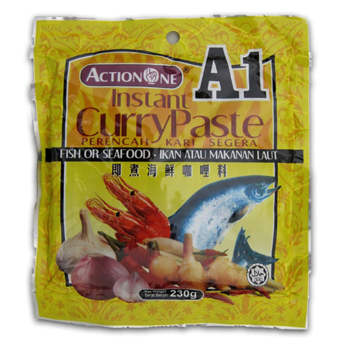Buy Action One (A1) Instant Curry Paste (Fish or Seafood) - 230 gm