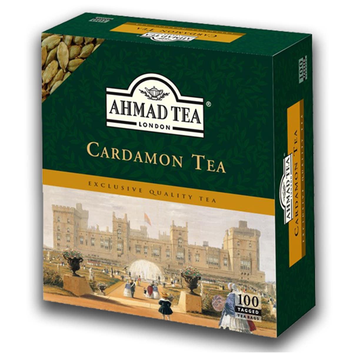 Buy Ahmad Tea London Cardamon Tea (100 Tagged Teabags) - 500 gm