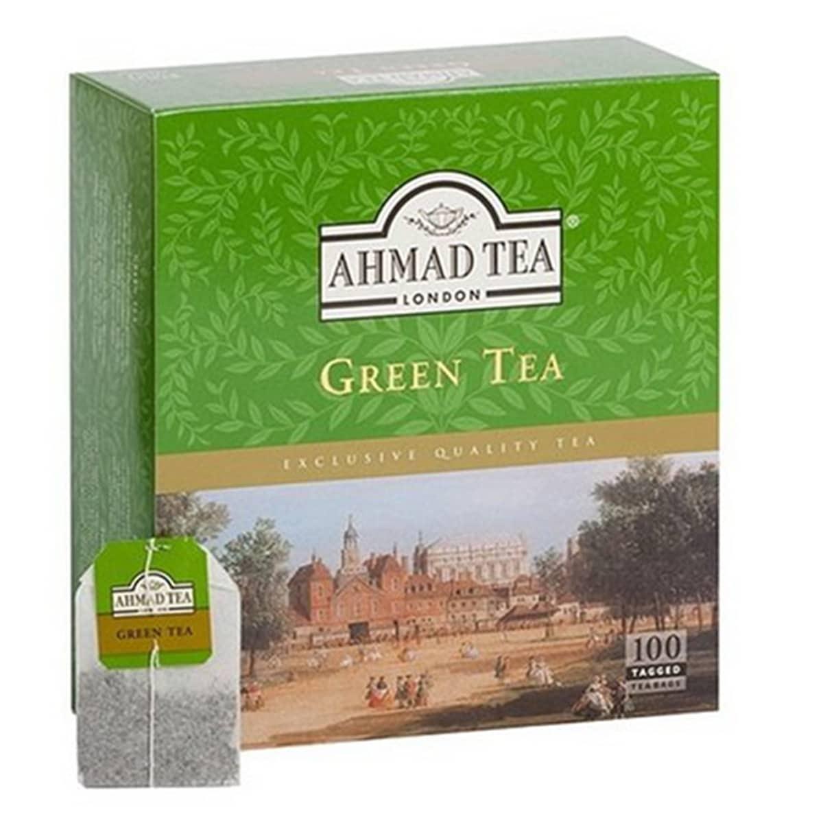 Buy Ahmad Tea London Green Tea (100 Tagged Teabags) - 500 gm