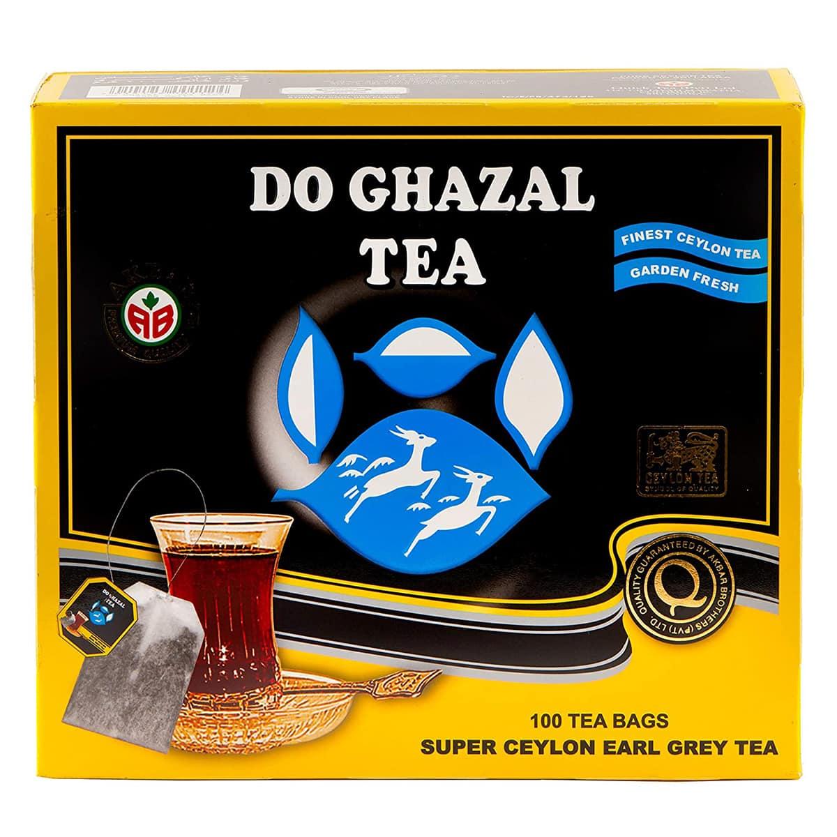 Buy Alghazaleen Tea (Do Ghazal Tea) Super Ceylon Earl Grey Tea (100 Tea Bags) - 500 gm