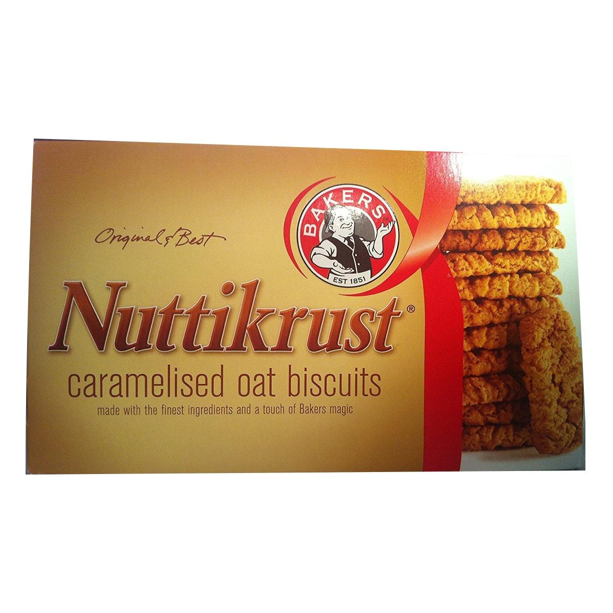 Buy Bakers Nuttikrust Caramelised Oat Biscuits - 200 gm