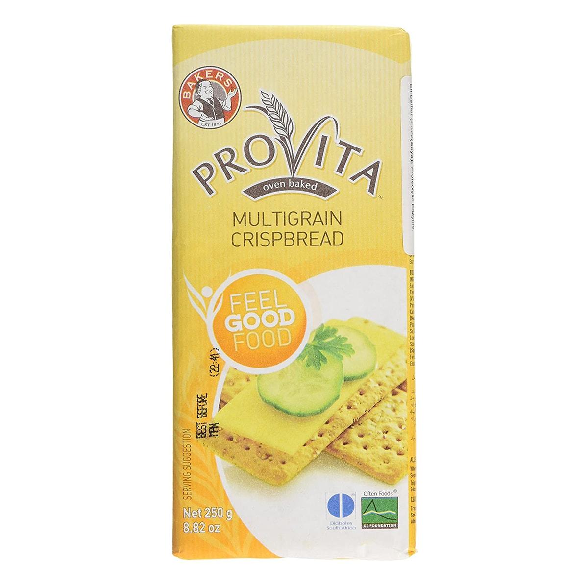 Buy Bakers Provita Multigrain Crispbread - 250 gm