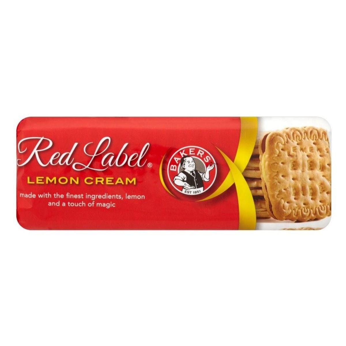 Buy Bakers Red Label Lemon Creams Biscuits - 200 gm
