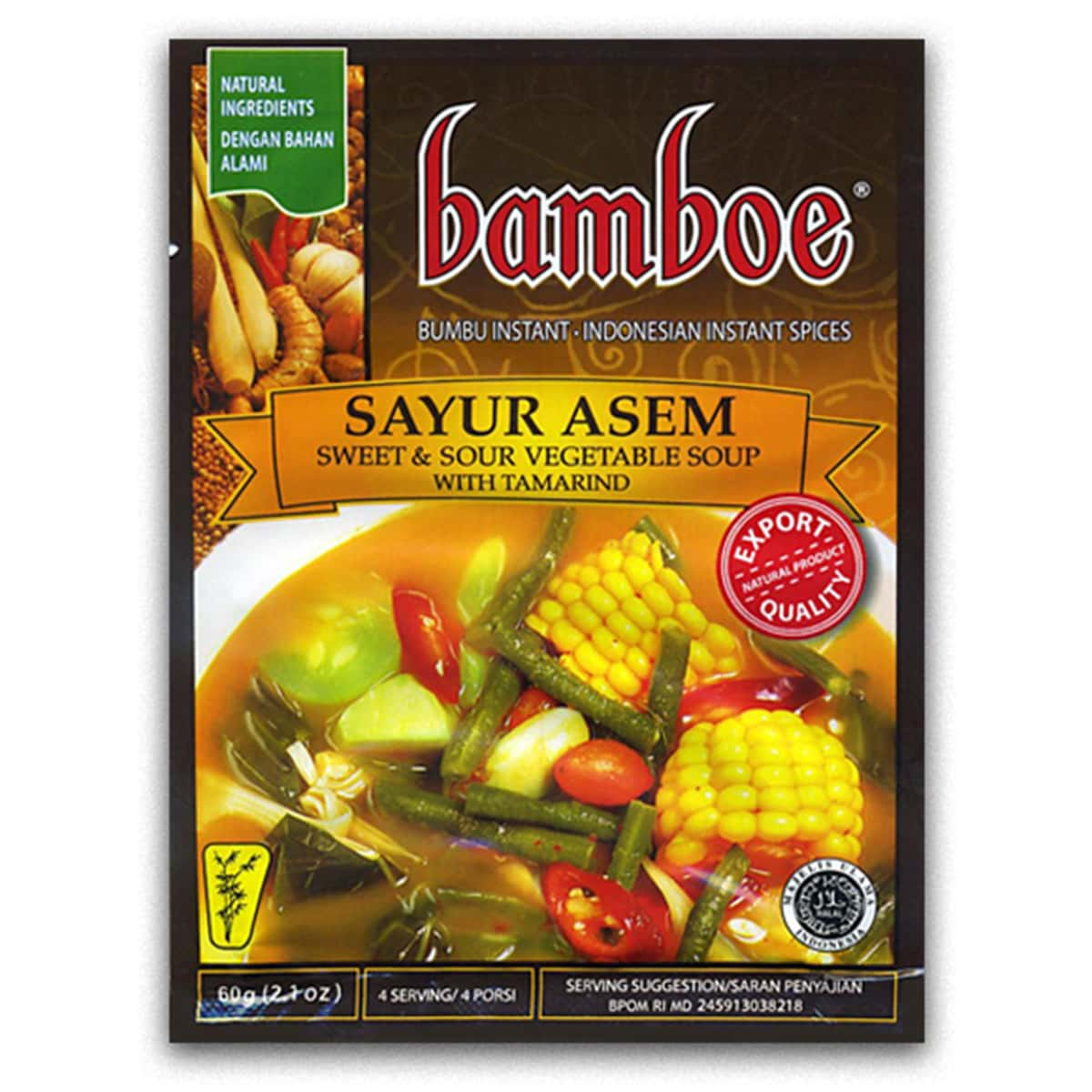 Buy Bamboe Sayur Asem (Sweet and Sour Vegetable Soup with Tamarind) - 60 gm