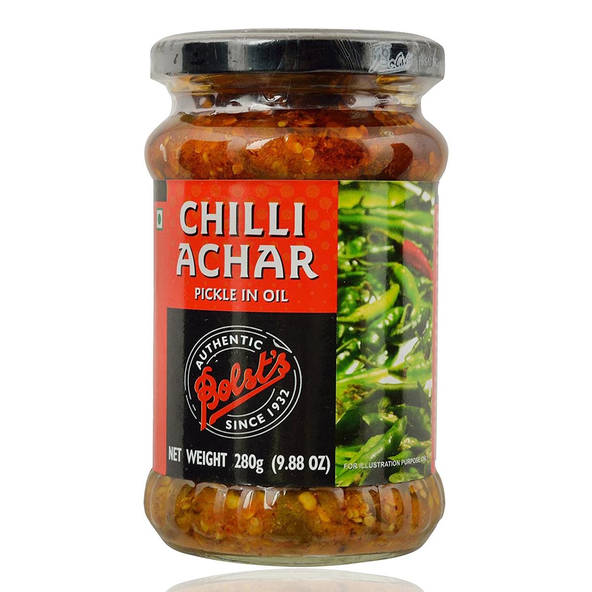 Buy Bolsts Chilli Achar Pickle in Oil - 280 gm