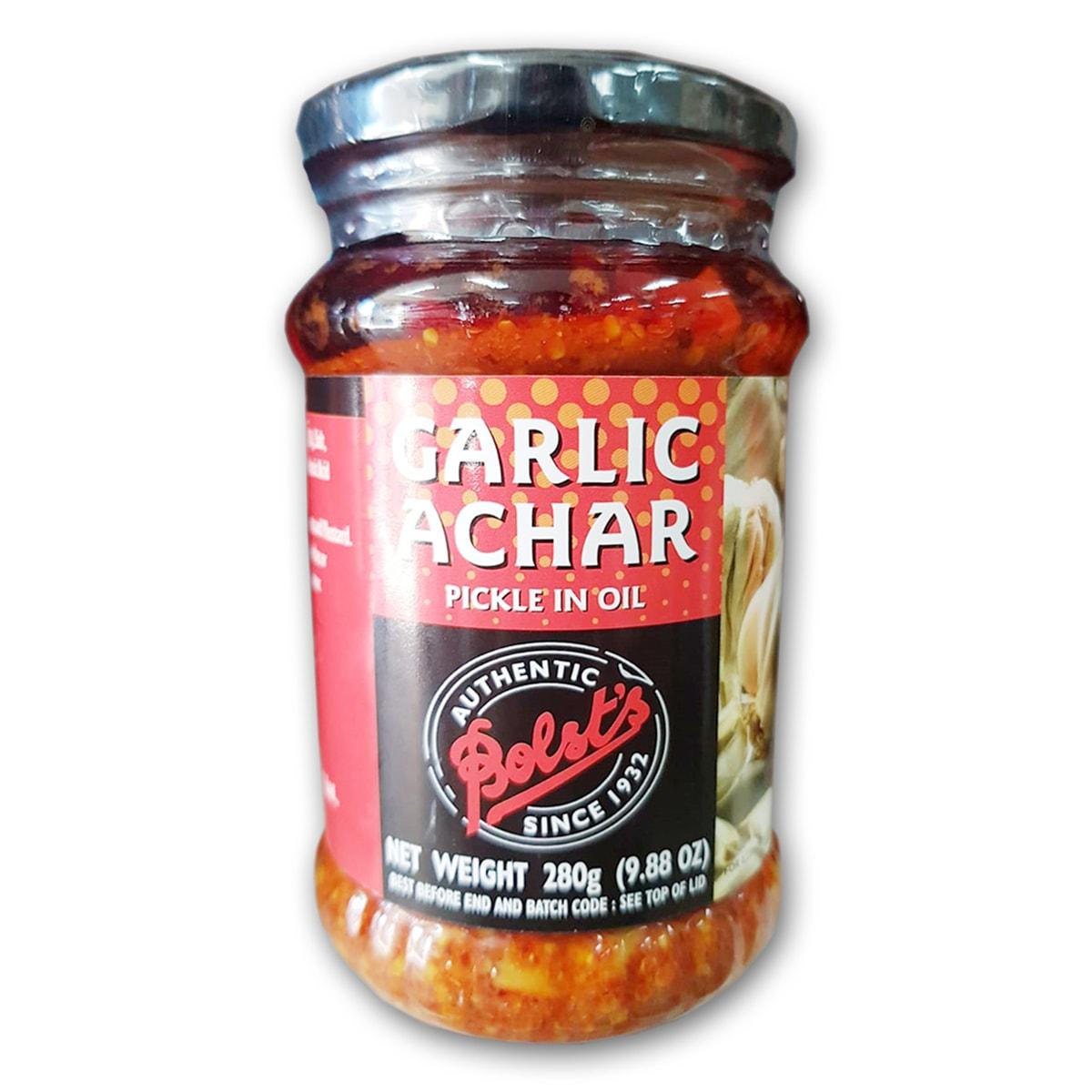 Buy Bolsts Garlic Achar Pickle in Oil - 280 gm