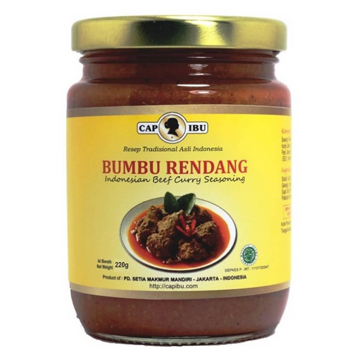Buy CAP IBU Motherbrand Bumbu Rendang (Indonesian Beef Curry Seasoning) - 220 gm
