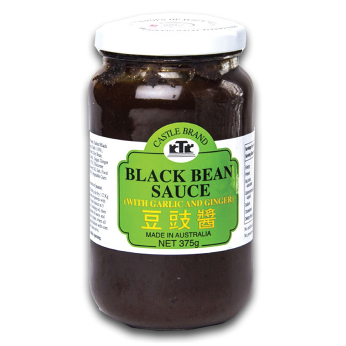 Buy Castle Brand Black Bean Sauce with Garlic and Ginger - 375 gm