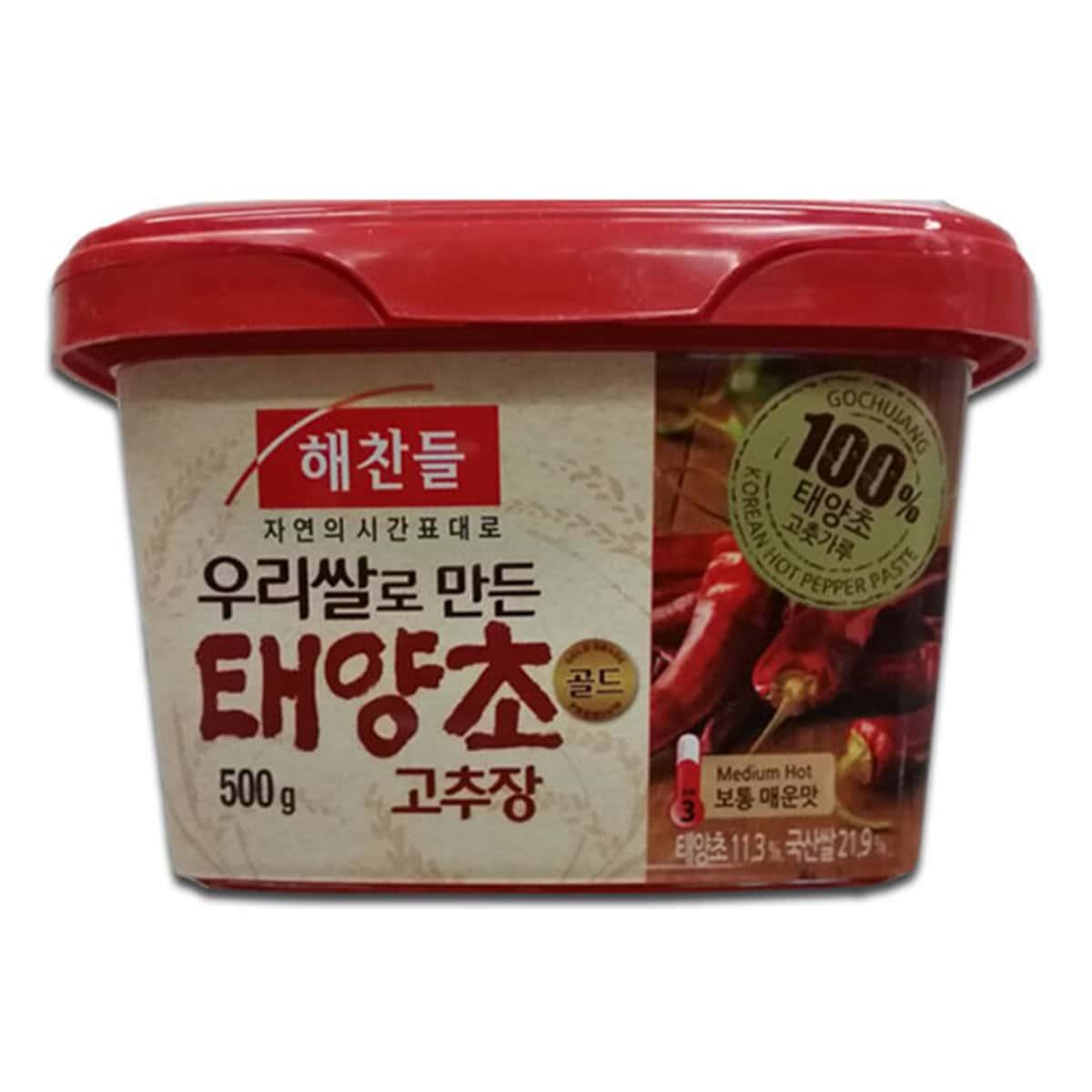 Buy CJ Haechandle Gochujang (Korean Hot Pepper Paste) Medium Hot - 500 gm