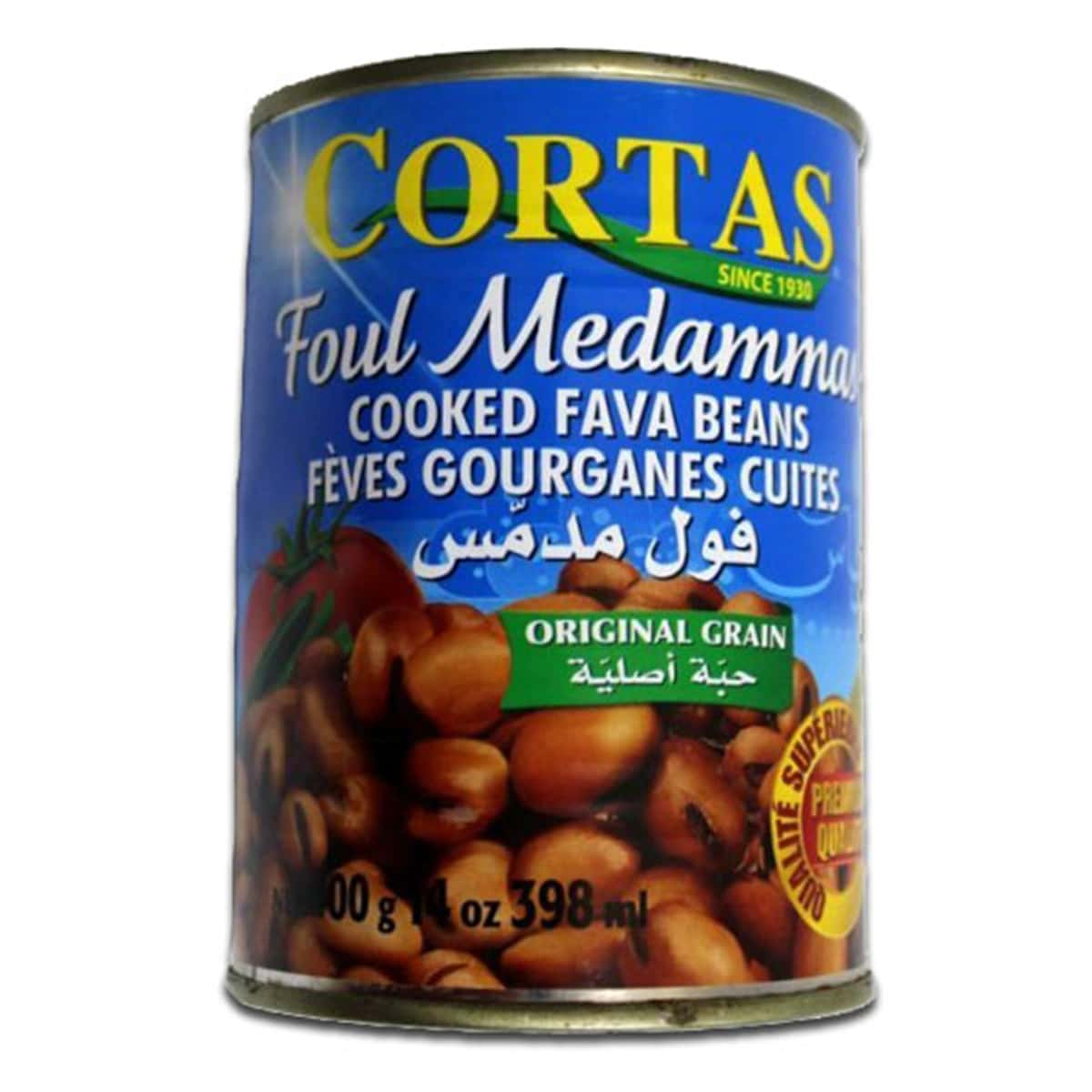 Buy Cortas Foul Medammas (Cooked Fava Beans) Ready to Serve - 400 gm