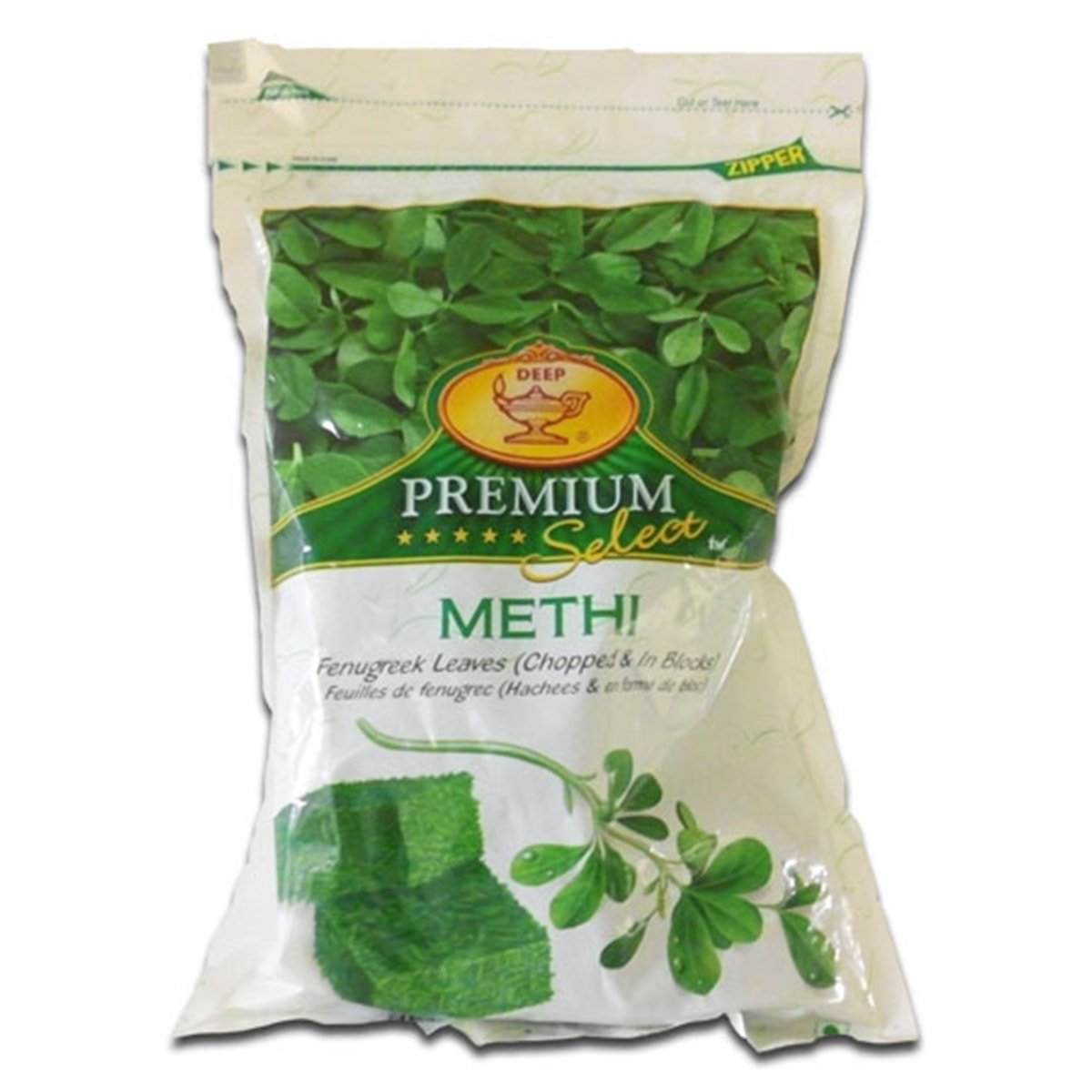 Buy Deep Foods Methi (Fenugreek Leaves) Frozen - 340 gm