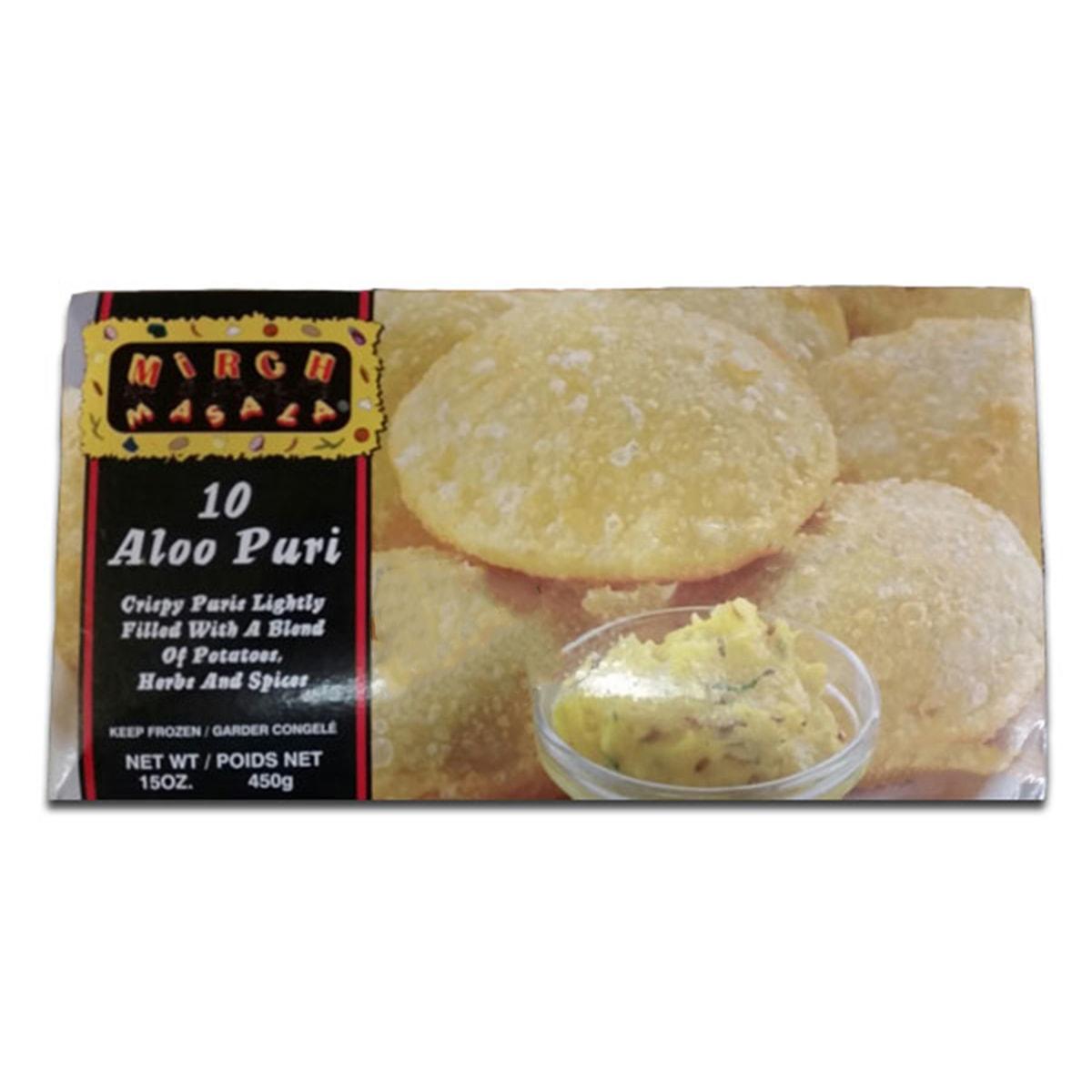 Buy Deep Foods Mirch Masala Aloo Puri 10 Pcs (Frozen) - 450 gm