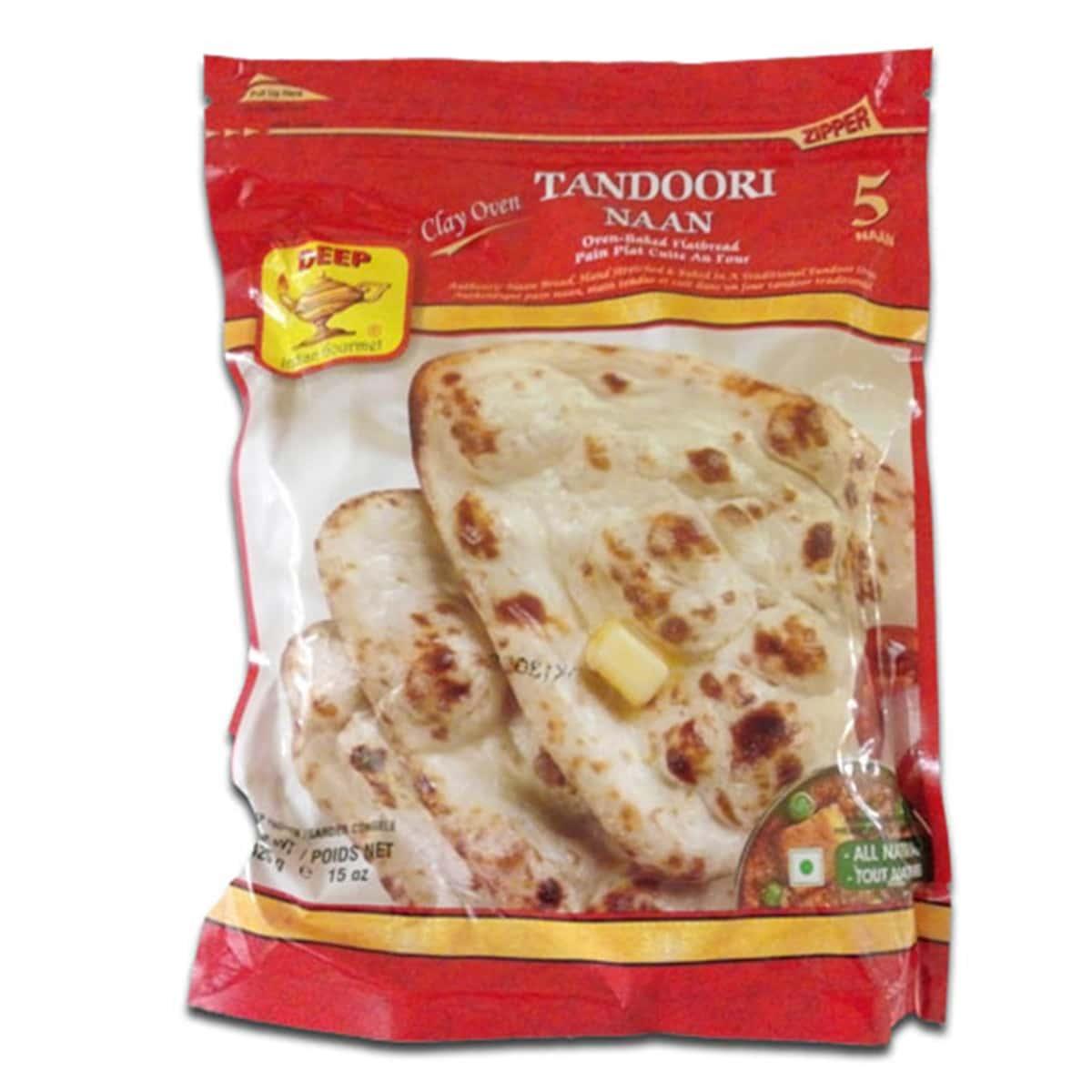 Buy Deep Foods Tandoori Naan 5 Pcs (Frozen) - 425 gm