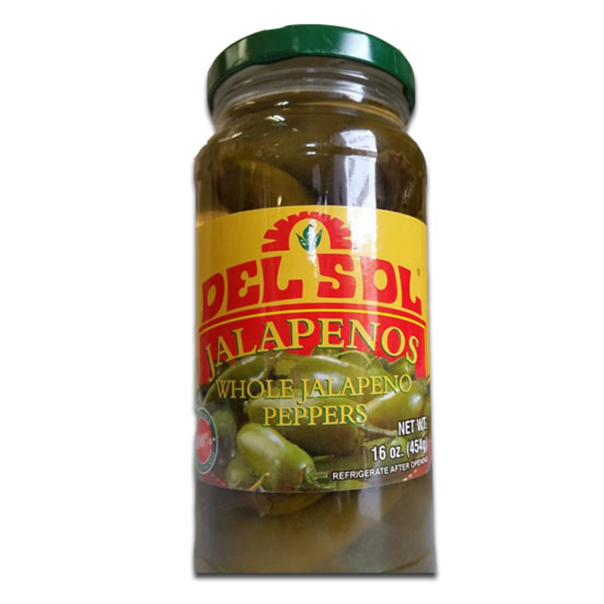 Buy Del Sol Jalapenos (Whole Jalapeno Peppers) - 454 gm