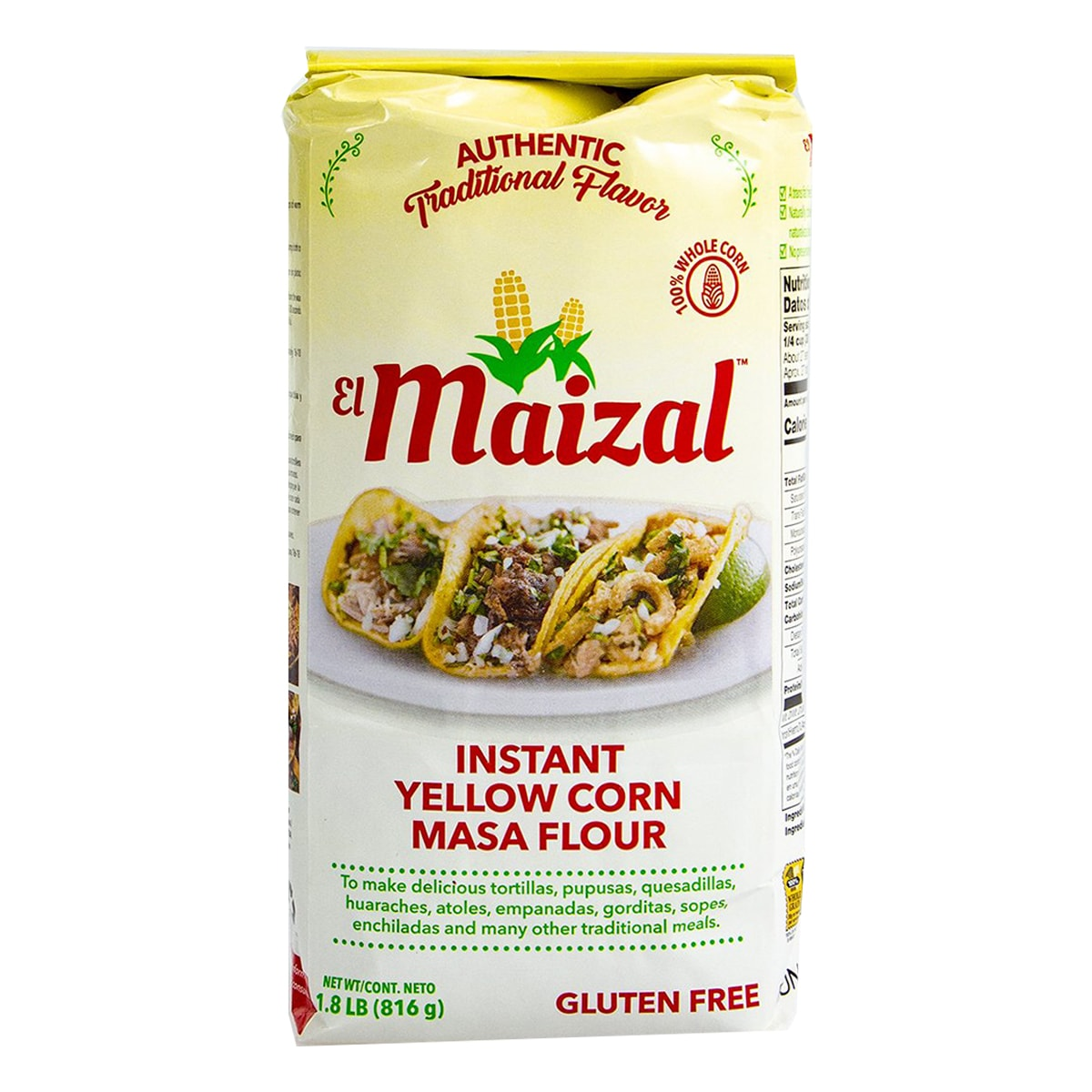 Buy EL Maizal Nixtamalized Yellow Corn Masa Mix - 816 gm
