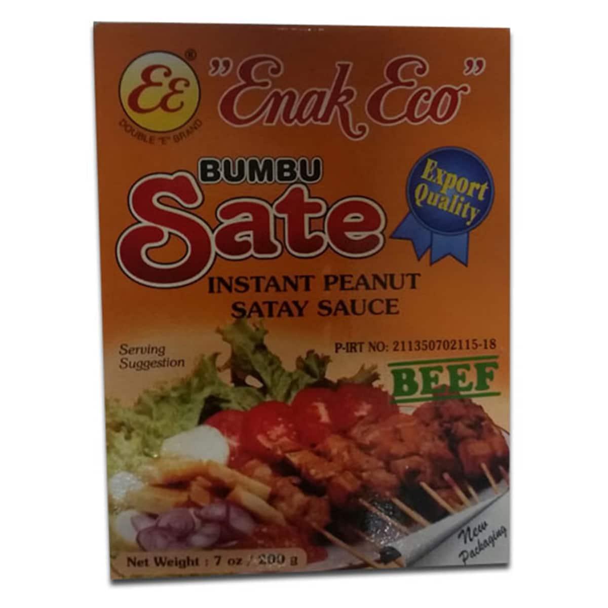 Buy Enak Eco Bumbu Sate (Instant Peanut Satay Sauce) Beef - 200 gm