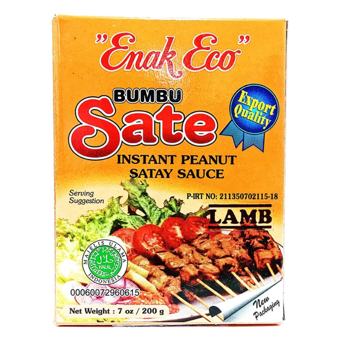 Buy Enak Eco Bumbu Sate (Instant Peanut Satay Sauce) Lamb - 200 gm
