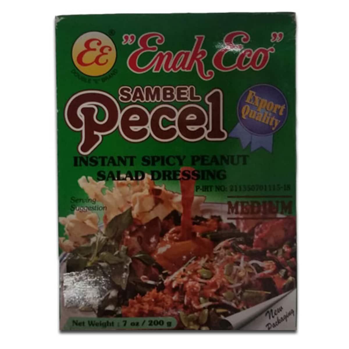 Buy Enak Eco Sambel Pecel (Instant Spicy Peanut Salad Dressing) Medium - 200 gm