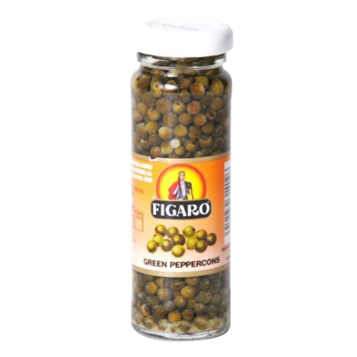 Buy Figaro Green Peppercorns in Vinegar - 110 gm