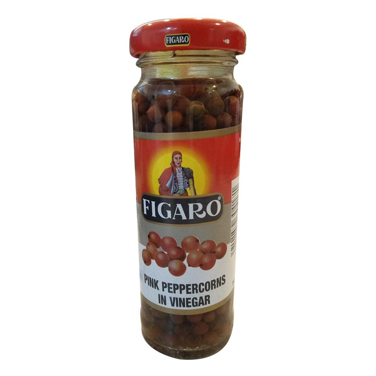 Buy Figaro Pink Peppercorns in Vinegar - 110 gm