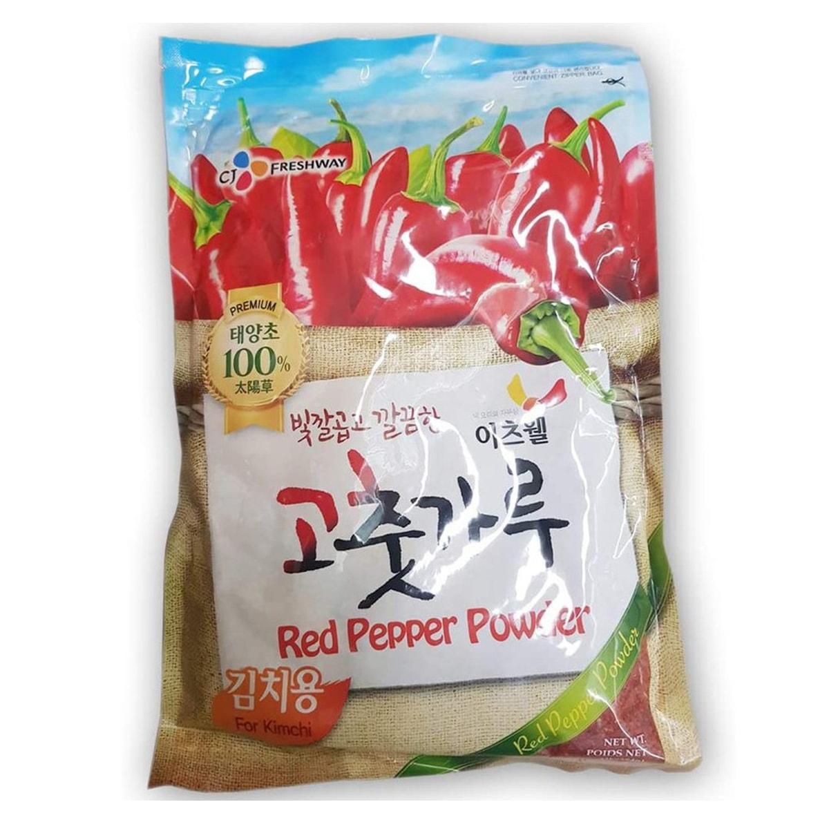 Buy CJ Freshway Gochugaru (Korean Red Pepper Powder for Kimchi) [Fine] - 454 gm