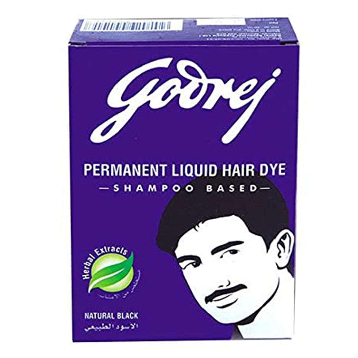 Buy Godrej Permanent Liquid Hair Dye (Natural Black ) - 40 ml