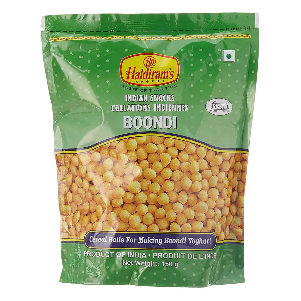 Buy Haldirams Spicy Raita Boondi - 150 gm