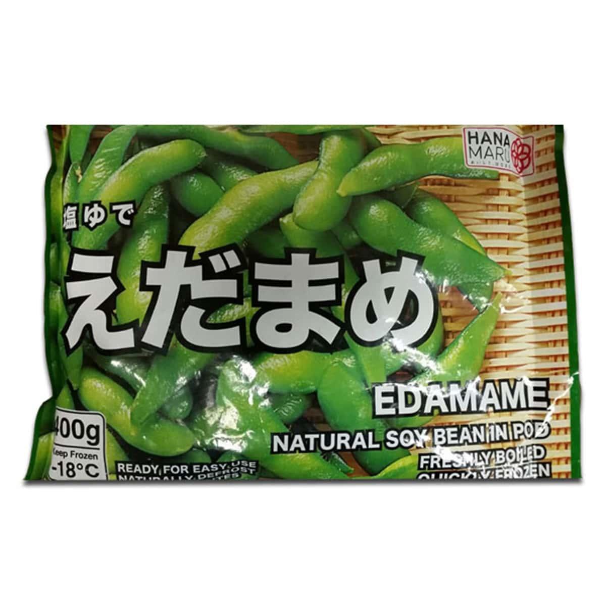 Buy Hana Maru Frozen Edamame Natural Soybean in Pod - 400 gm