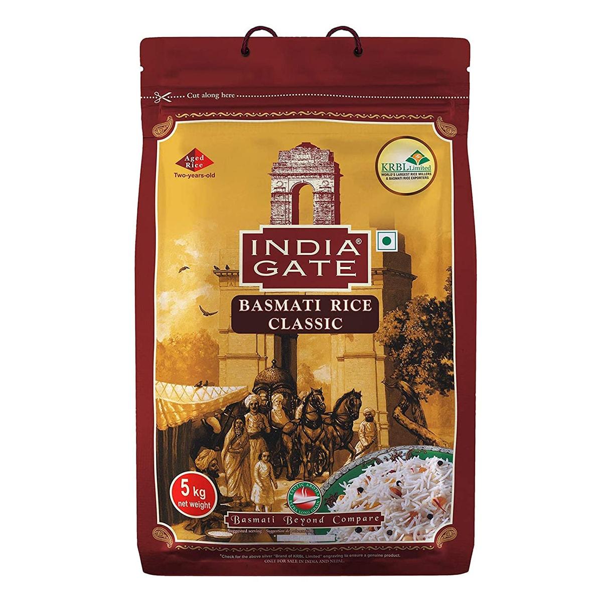 Buy India Gate Basmati Rice Classic - 5 kg