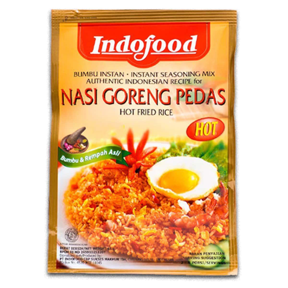 Buy Indofood Nasi Goreng Pedas (Hot Fried Rice) - 45 gm