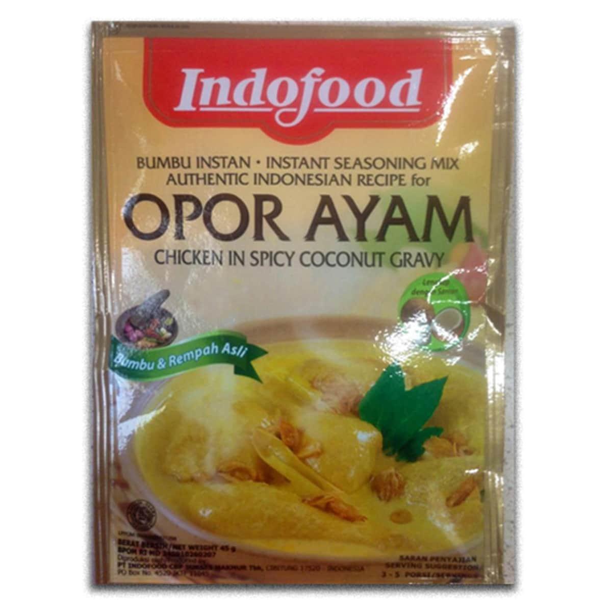 Buy Indofood Opor Ayam (Chicken in Spicy Coconut Gravy) - 45 gm