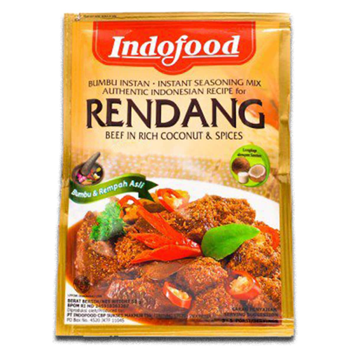 Buy Indofood Rendang (Beef in Rich Coconut and Spices) - 50 gm