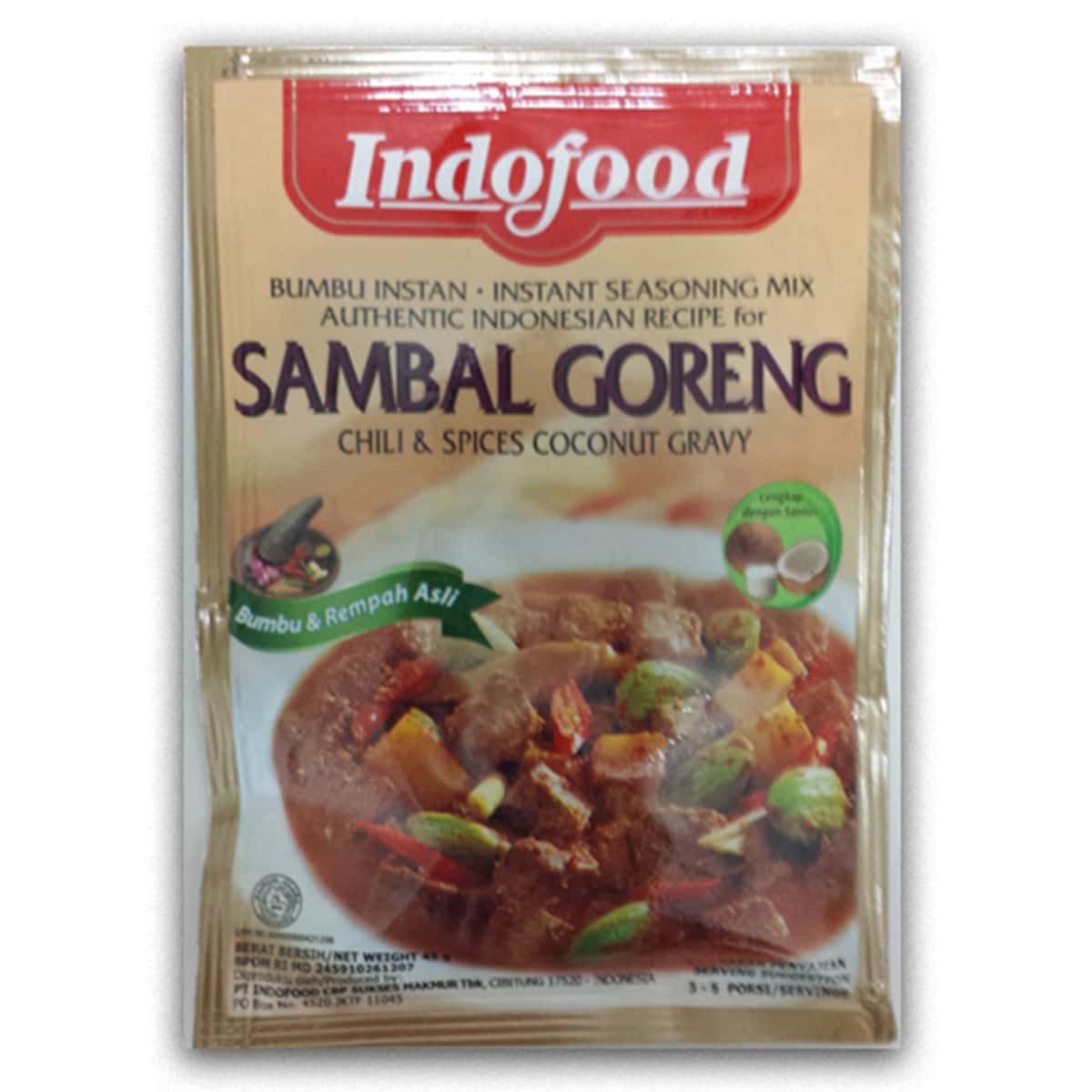 Buy Indofood Sambal Goreng (Chili and Spices Coconut Gravy) - 45 gm
