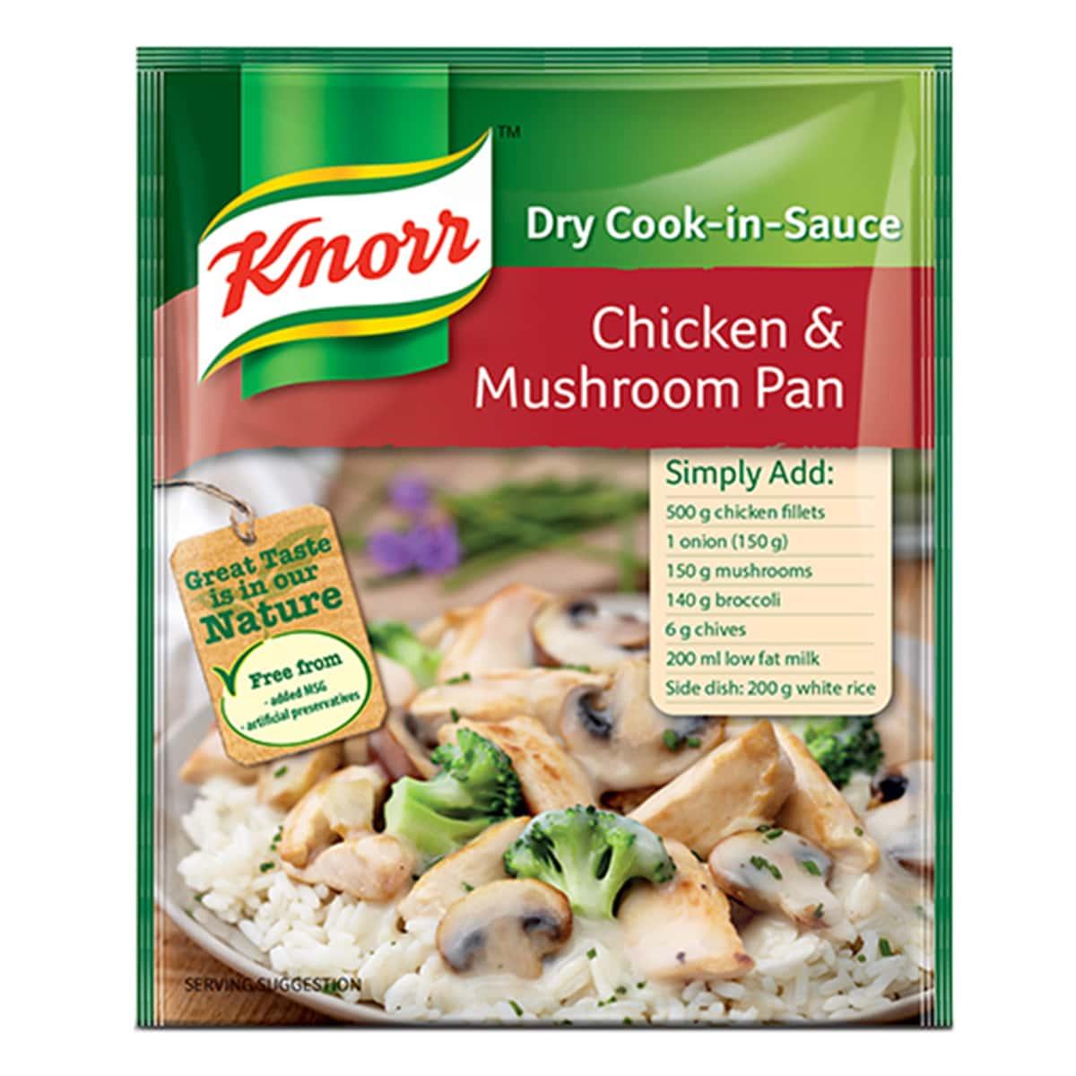 Buy Knorr Chicken and Mushroom Pan (Dry Cook in Sauce) - 48 gm