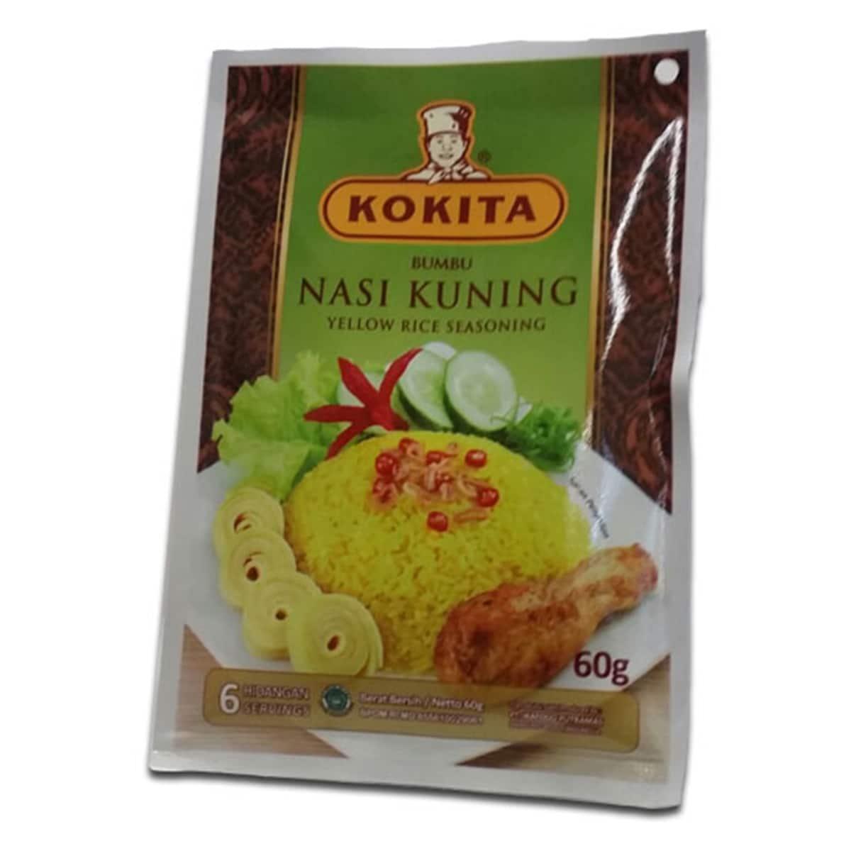 Buy Kokita Bumbu Nasi Kuning (Yellow Rice Seasoning) - 60 gm