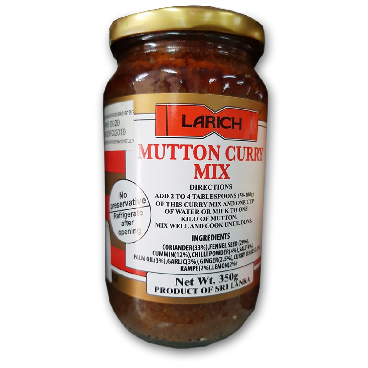 Buy Larich Mutton Curry Mix - 350 gm