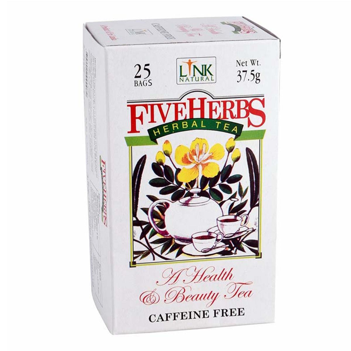Buy Link Natural Five Herbs Herbal Tea (Caffeine Free) - 37.5 gm