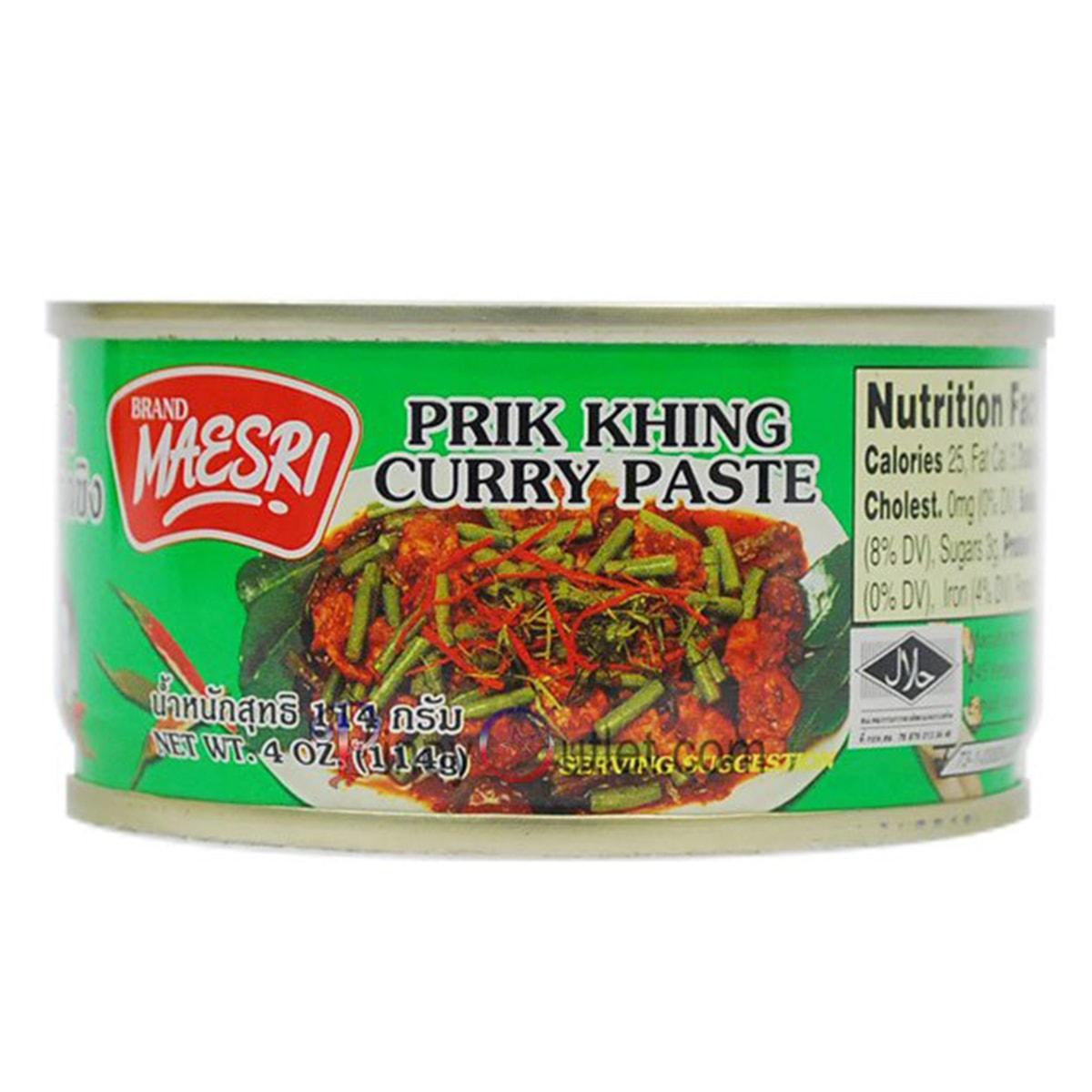 Buy Maesri Prik Khing Curry Paste - 114 gm
