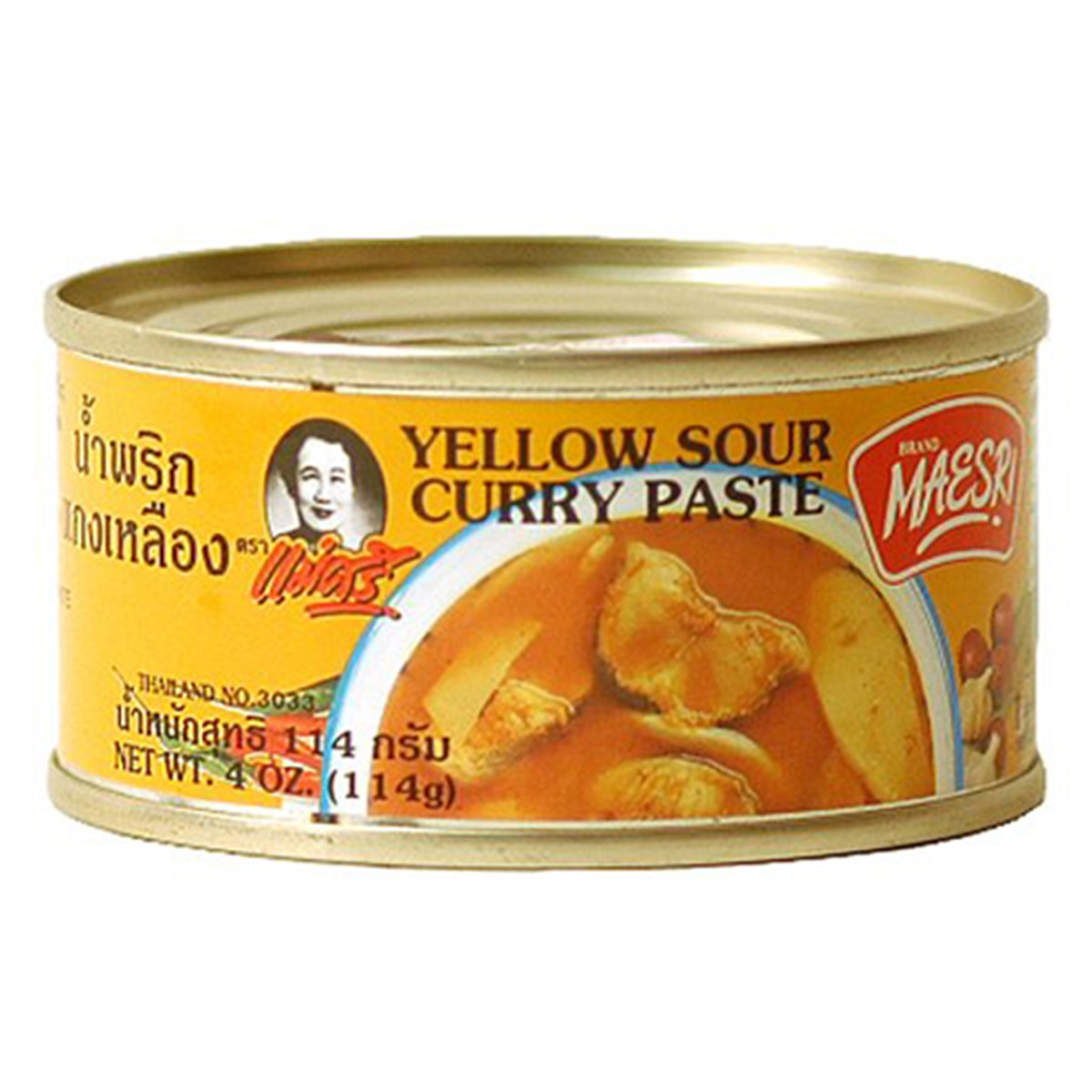 Buy Maesri Yellow Sour Curry Paste - 114 gm