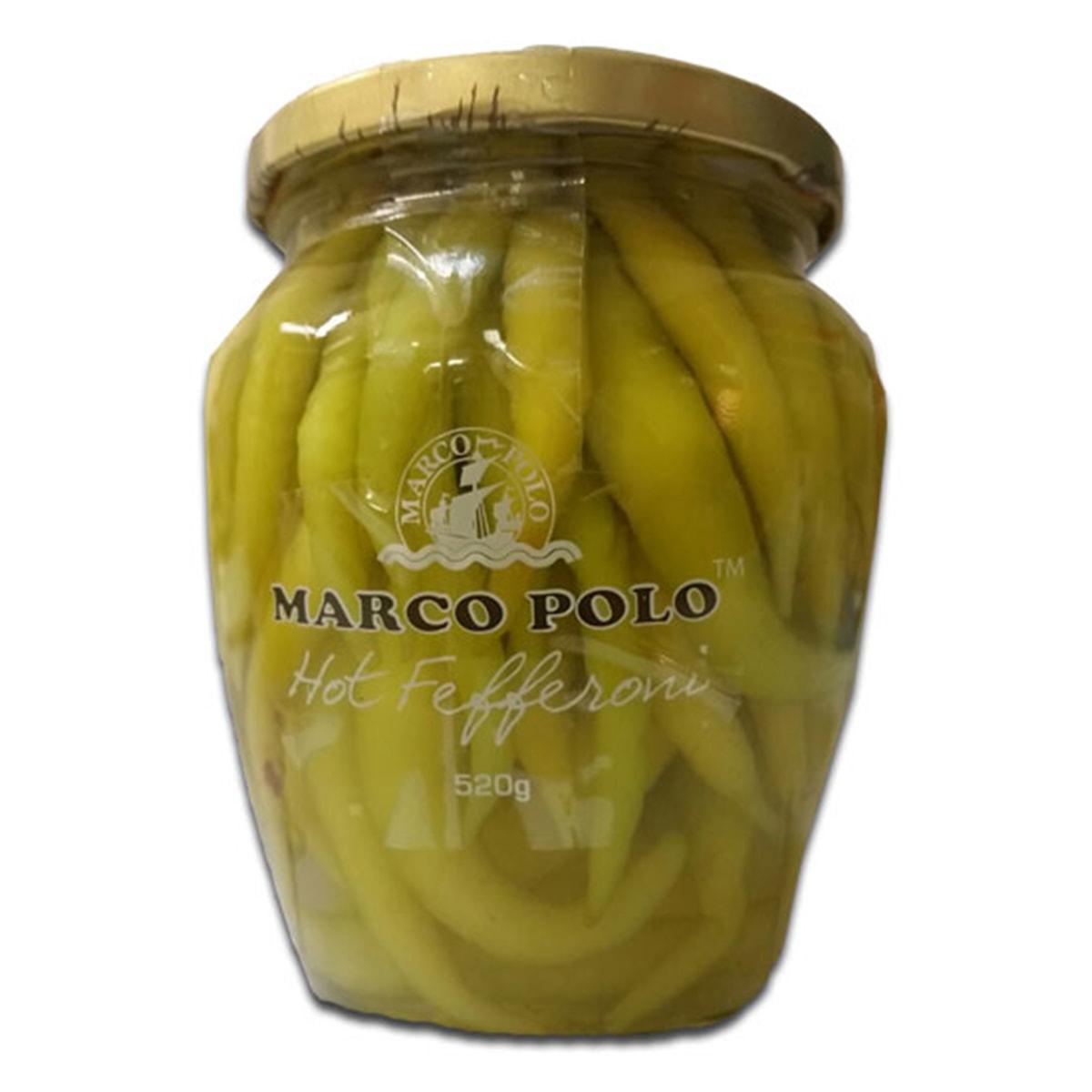 Buy Marco Polo Hot Fefferoni (Yellow Fefferoni Peppers) - 520 gm
