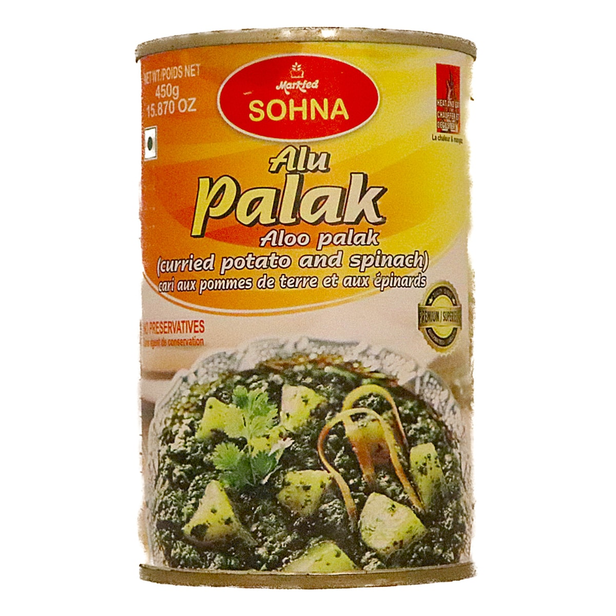 Buy Markfed Sohna Alu Palak (Spinaci Con Patate) - 450 gm