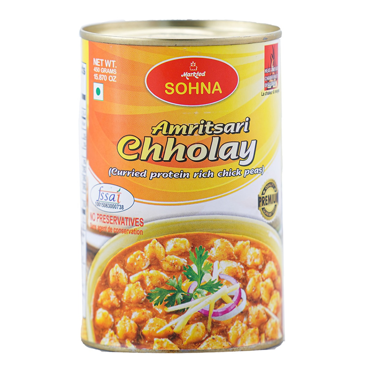 Buy Markfed Sohna Amritsari Chholay (Curried Protein-Rich Chick Peas) - 450 gm