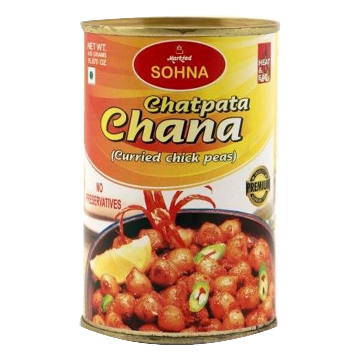 Buy Markfed Sohna Chatpata Chana (Chick Peas Curried) - 450 gm
