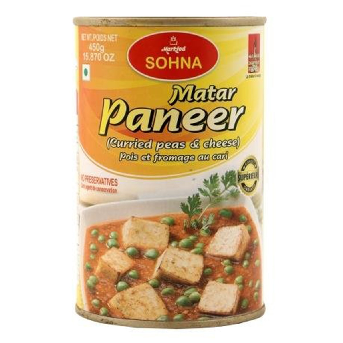 Buy Markfed Sohna Matar Paneer (Peas and Cheese Curried) - 450 gm
