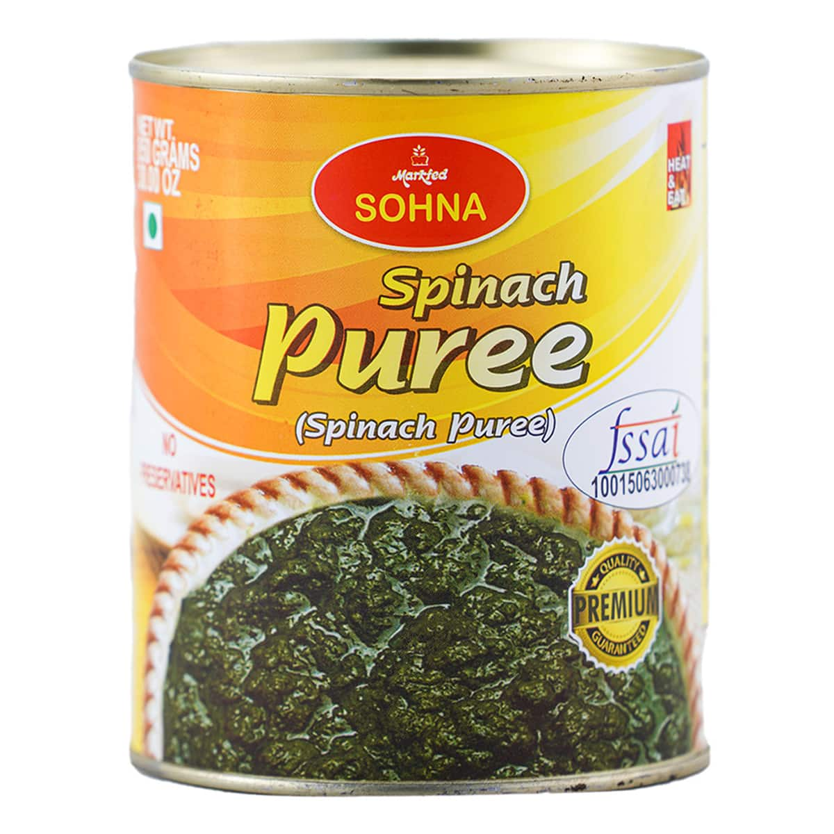 Buy Markfed Sohna Spinach Puree - 450 gm