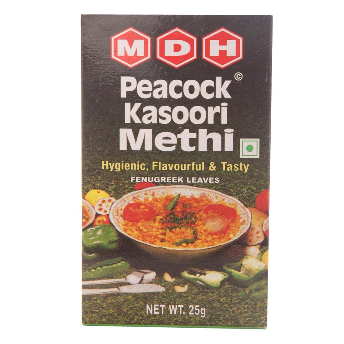 Buy MDH Peacock Kasoori Methi (Fenugreek Leaves) - 25 gm