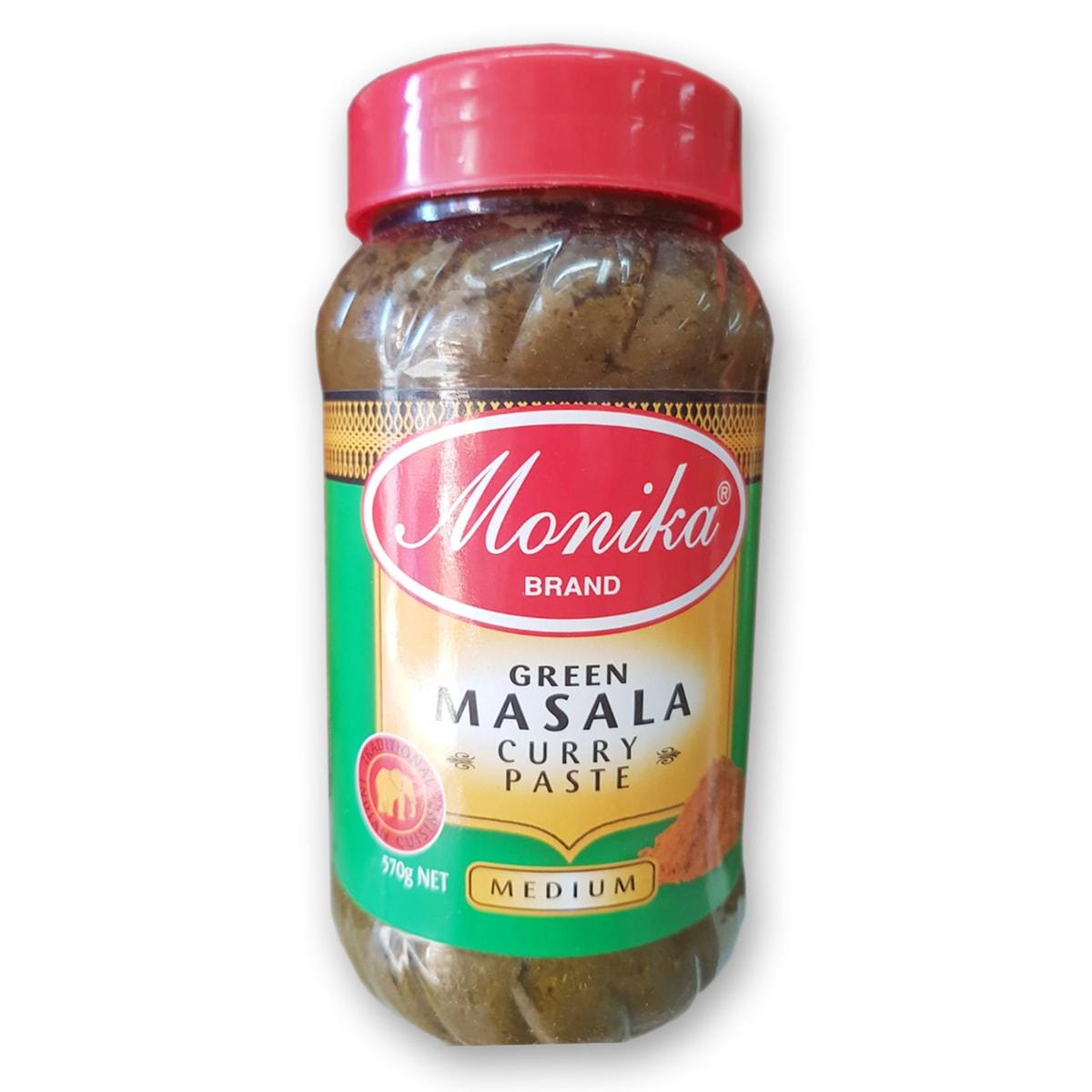 Buy Monika Green Masala Curry Paste (Medium) - 570 gm