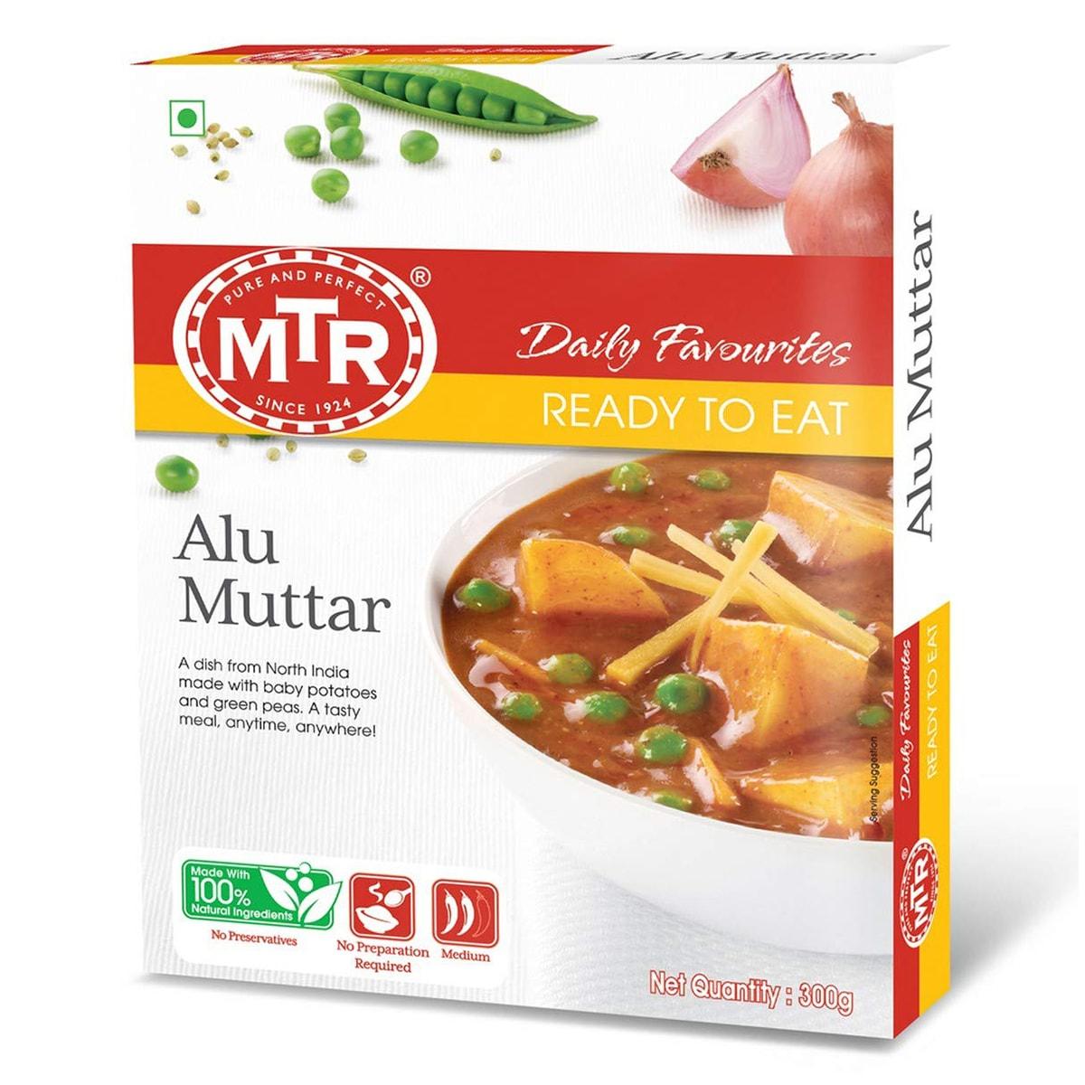 Buy MTR Alu Muttar (Ready to Eat) - 300 gm
