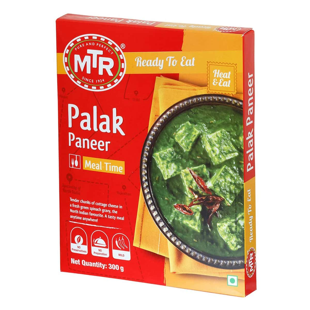 Buy MTR Palak Paneer (Ready to Eat) - 300 gm