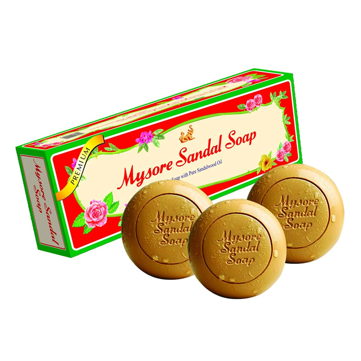 Buy Mysore Sandal Soap Gift Pack of 3 with Pure Sandalwood Oil - 450 gm